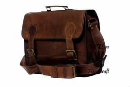 16 Men Vintage Brown Leather satchel Messenger Bag Shoulder Laptop Bag Briefcase image 4