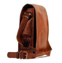 16 Men Vintage Brown Leather satchel Messenger Bag Shoulder Laptop Bag Briefcase image 2