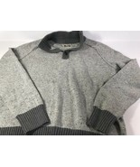 Converse Sweater Pullover With Button Collar Mens Medium B1 - $14.85