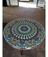 Table mosaic.table width:80cm.table height:60cm.traditionel table.craft table.c - $3,800.00