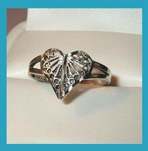 Heart Shaped Filigree Design Sterling Silver Ring - $24.99