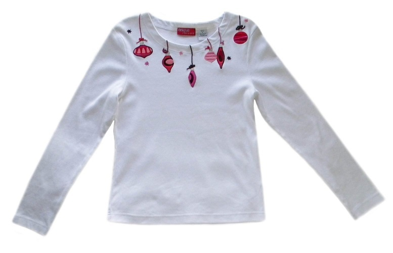 Womens Size S White Christmas Top