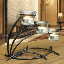 Adeco Candle Holder With Clear Glass, Holds 3 Tealights Candles - $29.99