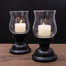 Adeco Metal Candle Holder Stand With Glass, Set of Two - $29.99