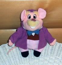 "Disney Great Mouse Detective Dr Dawson Plush Beans 7"" Basil Sherlock Ass... - $7.95"