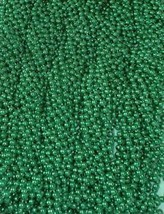 48 Green Mardi Gras Beads St Patricks Day 4 Dozen Necklaces Party Favors... - €11,11 EUR
