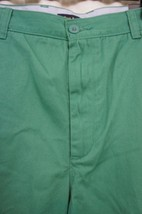 Club Room Mens Shorts Sz 40 Forrest Rain Green Solid Flat Front Casual S... - $25.26