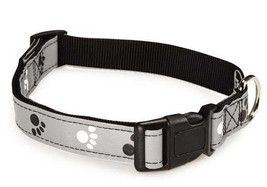 Reflective Pawprint Dog Collar Dog Collars Casu... - $6.99 - $10.99