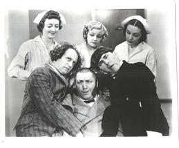 3 Stooges Nurses Moe Larry Curly NMSN Vintage 8X10 BW TV Memorabilia Photo - $4.99