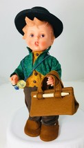 Hummel Merry Wanderer Doll by Goebel Vinyl + Clothes Suitcase Tag Case b - $48.37