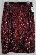 Xscape By Joanna Chen Skirt Sz 10 Wine Fully Sequined Cocktail Party Str... - $49.44