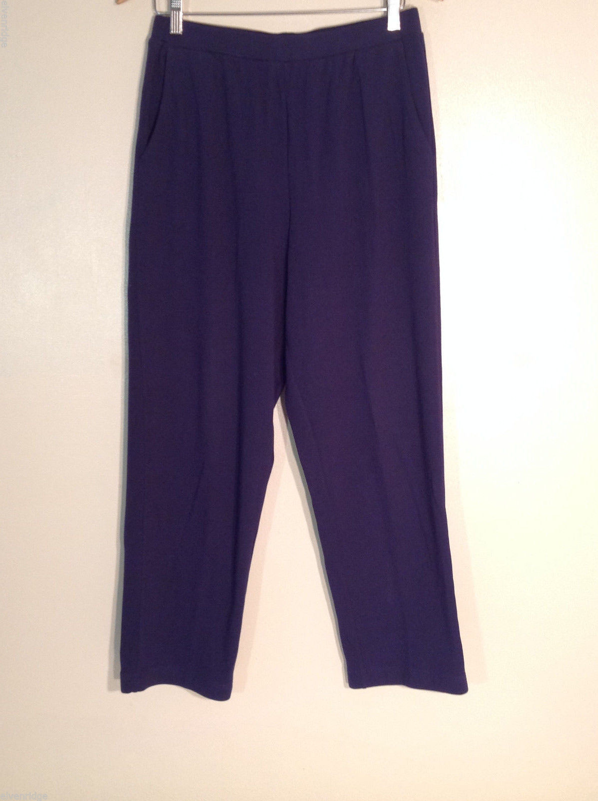 Appleseed's Women's Size M Pants Soft Knit Dark Navy Blue Relaxed Fit Pull-Ons