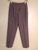 Andrea Viccaro Women's Size 10 Dress Pants Brown & Black Patterned Check... - $49.49