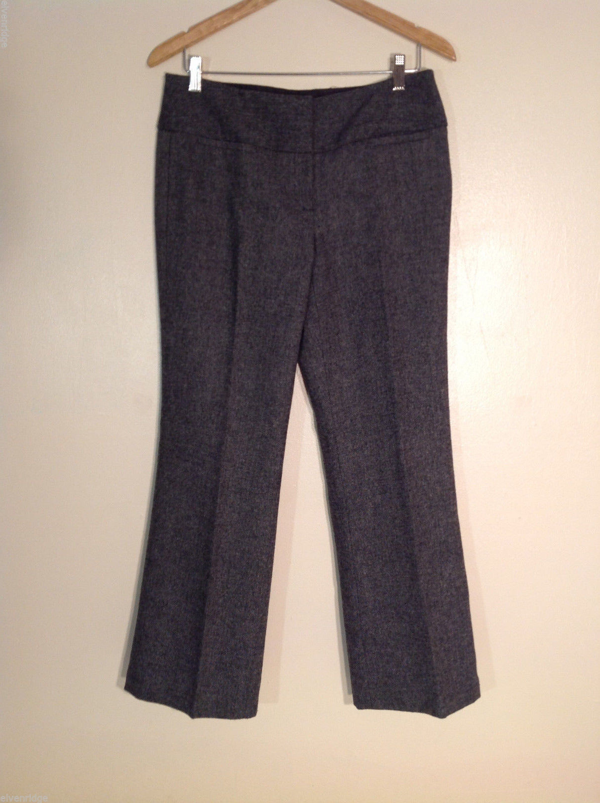 Dalia Collection Women's Petite Size 6 Pants Tweed Gray-Look (Black & White)