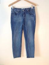Jolt Women's Size 5 (US 8, US M) Capris Denim Jean Whiskered Medium Blue Wash