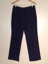 Lands' End Women's Tall Size 10 Dress Pants Black Wool Straight Leg No Waistband