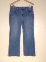 "L.L. Bean Women's Petite Size 10 ""Favorite"" Jeans Medium Blue Wash Straight Leg"