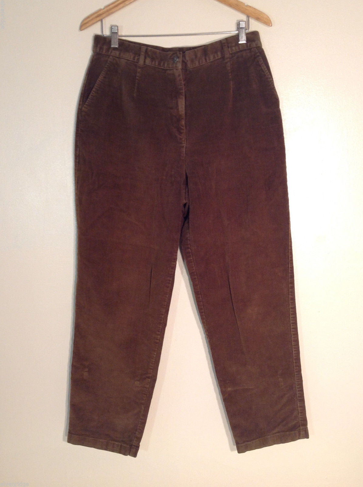 "L.L. Bean Women's Size M 14 Pants Casual Corduroy Chestnut Brown 30"" Tall Inseam"