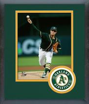 Sonny Gray 2016 Oakland A's - 11 x 14 Team Logo Matted/Framed Photo - $43.55
