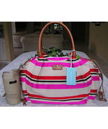 Kate Spade Oak Island Stripe Stevie Baby Diaper Bag NWT - $145.64