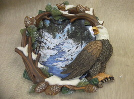 Hamilton Collection Four Seasons Of The Eagle Winter's Flight Framed Pla... - $19.80