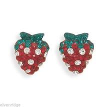 Strawberry Earrings Sterling Silver