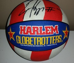 HARLEM GLOBE TROTTERS SIGNED BASkETBALL COLLECTIBLE plus autograph pic - $48.51