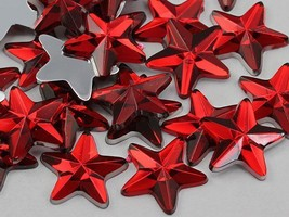 5mm Red Ruby H103 Flat Back Acrylic Star Gems High Quality - 125 PCS - $4.59