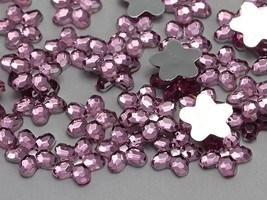 8mm Rose H112 Flat Back Flower Acrylic Gems High Quality - 100 PCS - $5.57