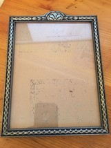 Vintage Antique Wood Wooden Silver Picture Photograph Frame  - $32.36