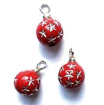 Dollhouse Red Starburst Ornaments Christmas cld2116 Miniature - $3.28