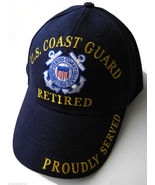 USCG US COAST GUARD RETIRED QUALITY EMBROIDERED... - $10.81