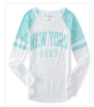 Aeropostale Women's New York Mesh Print Raglan Tee Shirt  M - $14.88