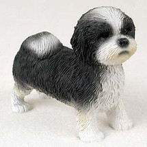 SHIH TZU (Black White Puppy Sport Cut) DOG Figu... - $16.73