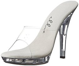 "Vanity 5"" Heel Clear Mule Shoe, 7 US - $39.09"