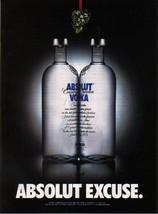 Absolut Excuse Vodka Magazine Ad - $4.99