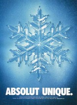 ABSOLUT UNIQUE Vodka Magazine Ad - $9.99