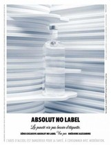 ABSOLUT NO LABEL Vodka Magazine Ad by Grégoire Alexandre - $9.99