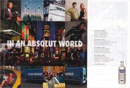 IN AN ABSOLUT WORLD Vodka Magazine Ad COLLAGE 2pp - $9.99