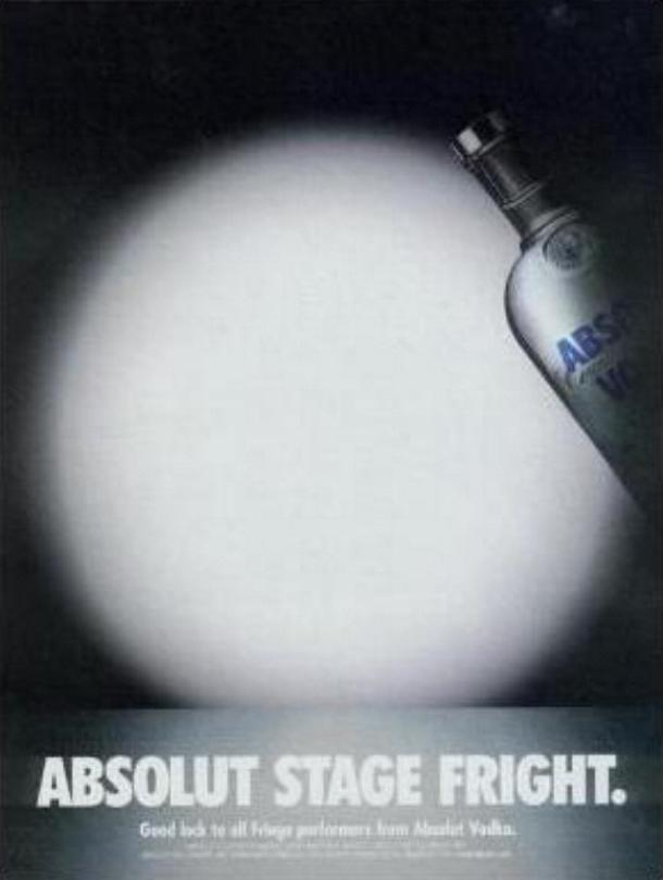 Primary image for ABSOLUT STAGE FRIGHT Vodka Magazine Ad