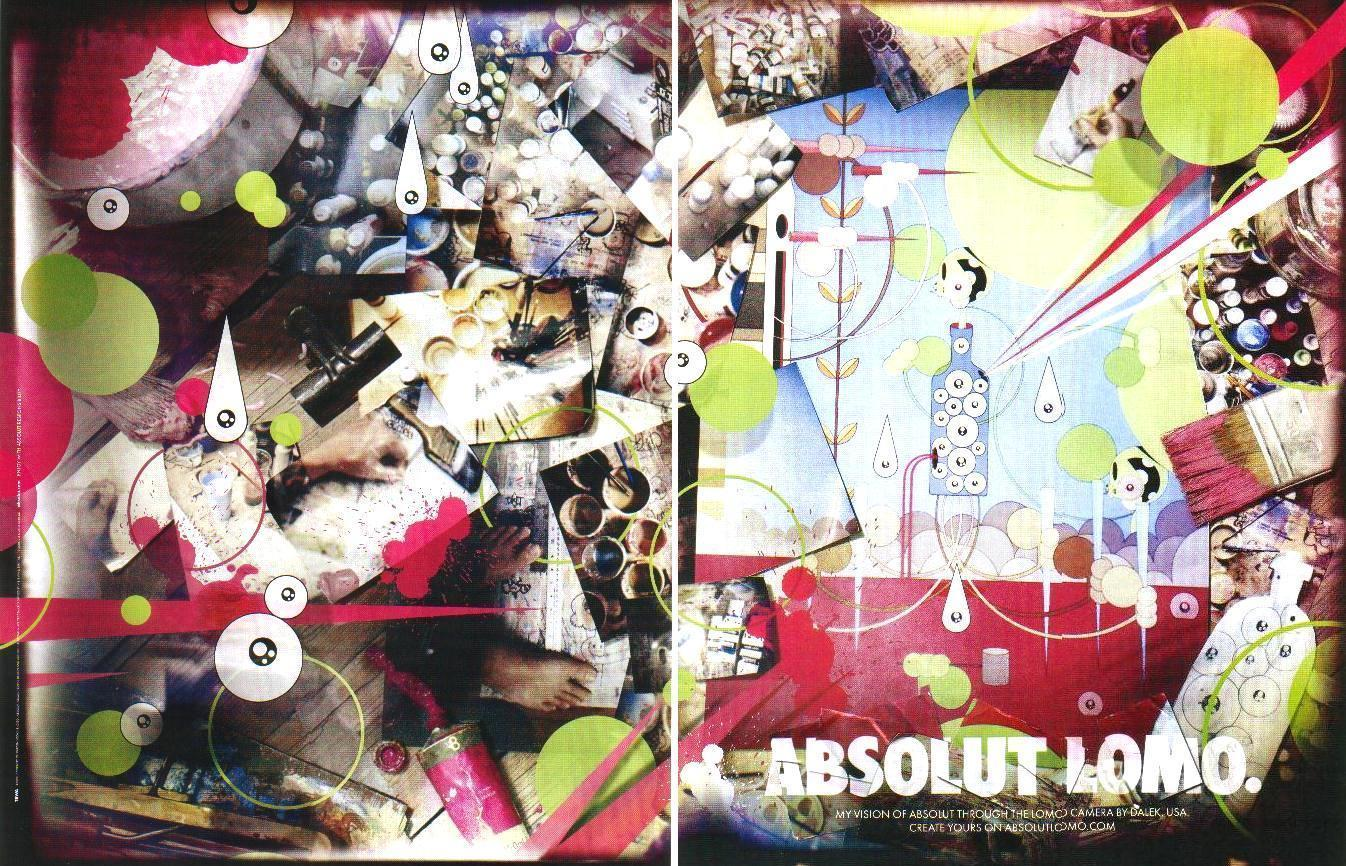 Primary image for ABSOLUT LOMO Vodka Magazine Ad by DALEK USA 2pp