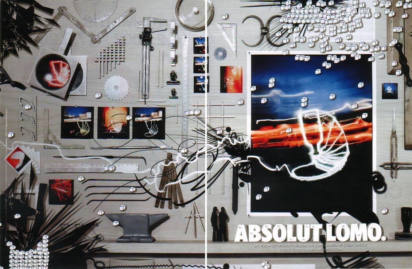 Primary image for ABSOLUT LOMO Vodka Magazine Ad STELLA GREECE 2pp