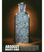 ABSOLUT BHARTI KHER Vodka Magazine Ad From India - $9.99