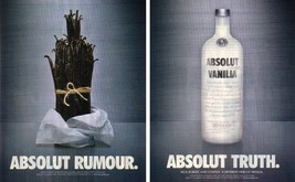ABSOLUT RUMOUR and ABSOLUT TRUTH Vodka Magazine Ads - $9.99