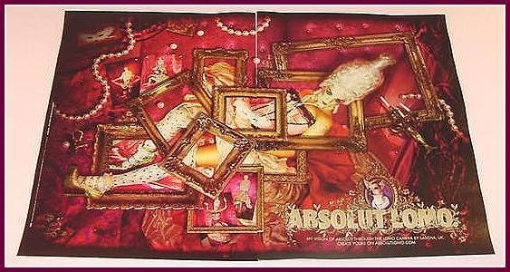 Primary image for ABSOLUT LOMO Vodka Magazine Ad SASCHA UK 2pp
