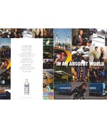 IN AN ABSOLUT WORLD Vodka Magazine Ad COLLAGE Double-Sided - $9.99