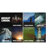 ABSOLUT CANADA Canadian Vodka Magazine Ad 8 PERFORATED POSTCARD SHEET - ... - $9.99