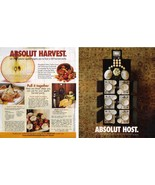 ABSOLUT HOST and ABSOLUT HARVEST Vodka Magazine Ads RARE! HARD TO FIND! - $9.99