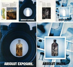 ABSOLUT EXPOSURE and ABSOLUT IMAGE Spectacular Die-Cut Canadian Vodka Ad... - $14.99