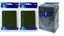 100 EMERALD GREEN Shuffle-Tech GLOSS Finish Sleeves + Deck Box (fits Mag... - $6.99